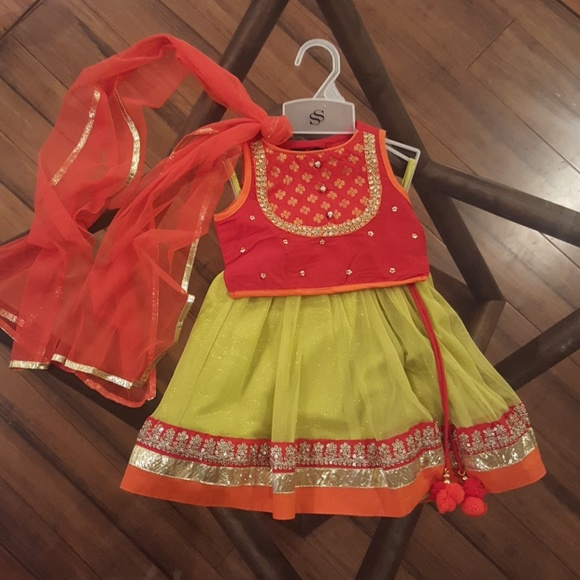 Stop Dresses Traditional Indian Girls Outfit 612 Months Poshmark